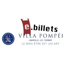 E billet villa pompei forfait 2h - à partir de 18 ans